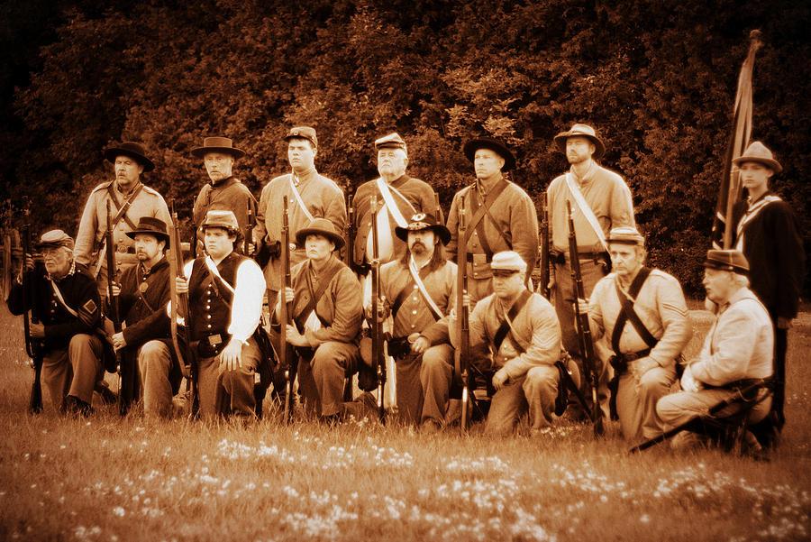 Infantry Photograph - 10th Louisiana by Jonathan Bateman