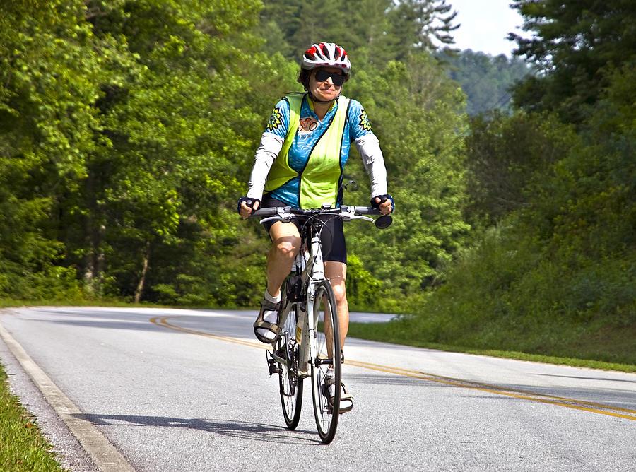 Woman Photograph - Bicycle Ride Across Georgia by Susan Leggett