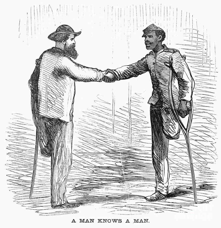 1865 Photograph - Civil War: Black Troops by Granger