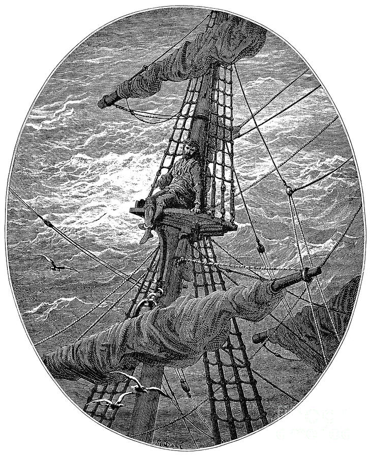 19th Century Drawing - Ancient Mariner 9 by Gustave Dore