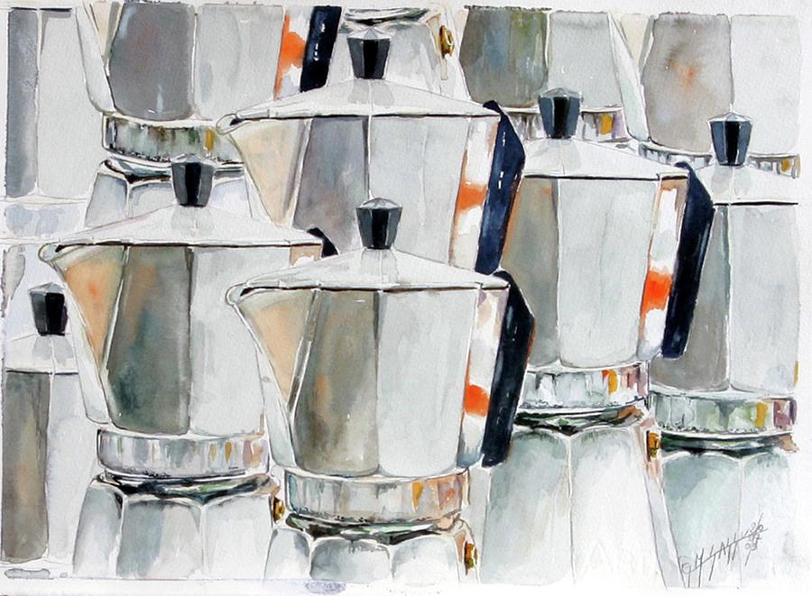 Still Life Painting - 11 Moka by Giovanni Marco Sassu