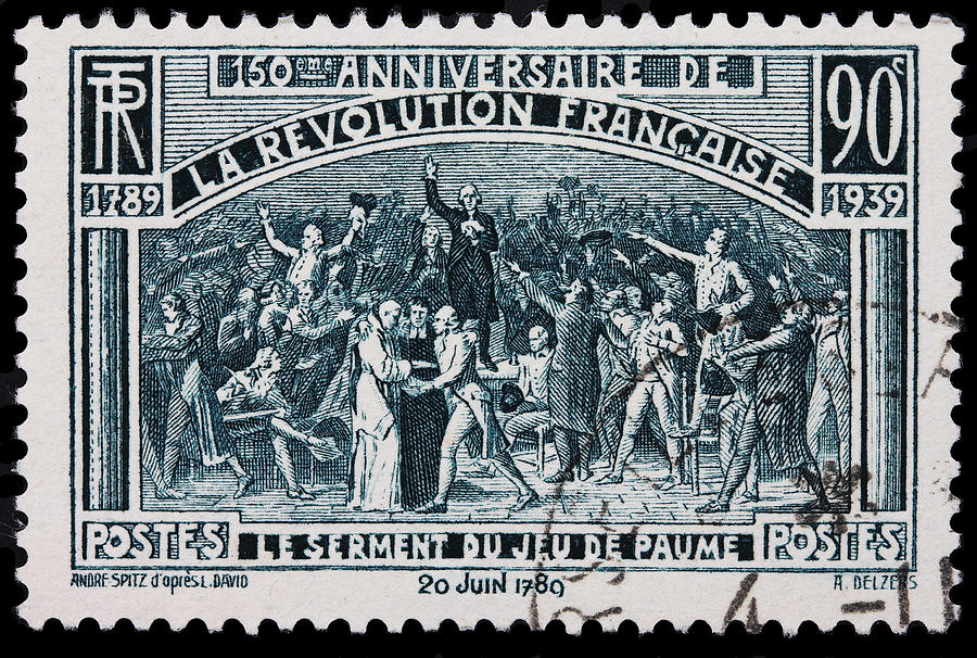 French Revolution Photograph - old French postage stamp by James Hill