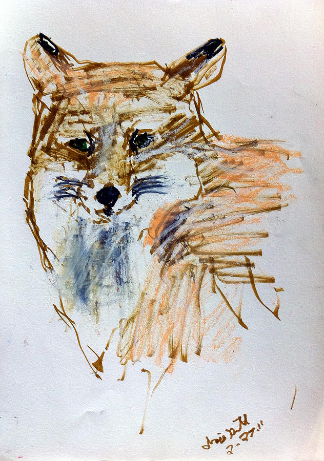 Dog Drawing - Untitled by Iris Gill