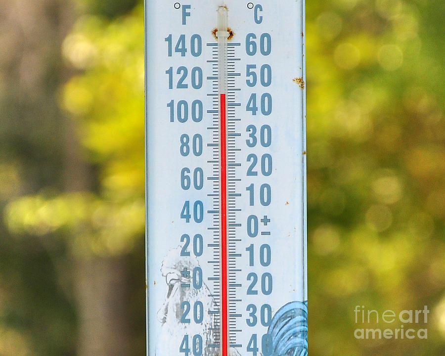 Thermometer Photograph - 110 Degrees In The Shade by Al Powell Photography USA