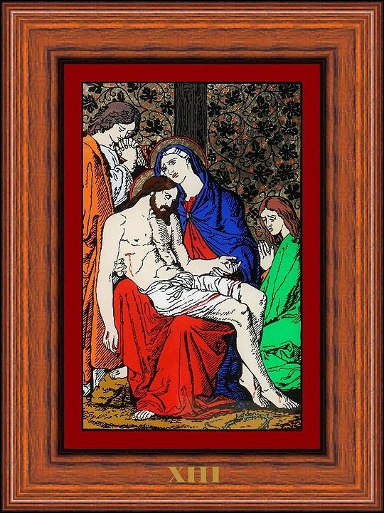 Drumul Crucii - Stations Of The Cross  Painting by Buclea Cristian Petru