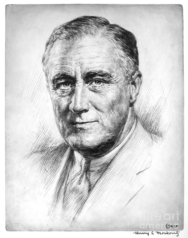 1933 Photograph - Franklin Delano Roosevelt by Granger