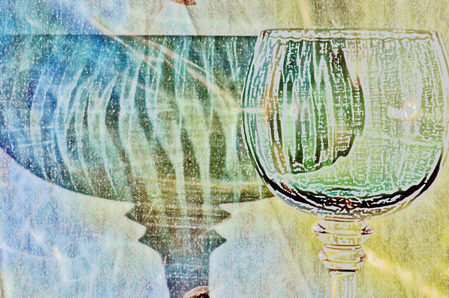 Photoshop Photograph - Shadow Of Wine Glass by Werner Lehmann