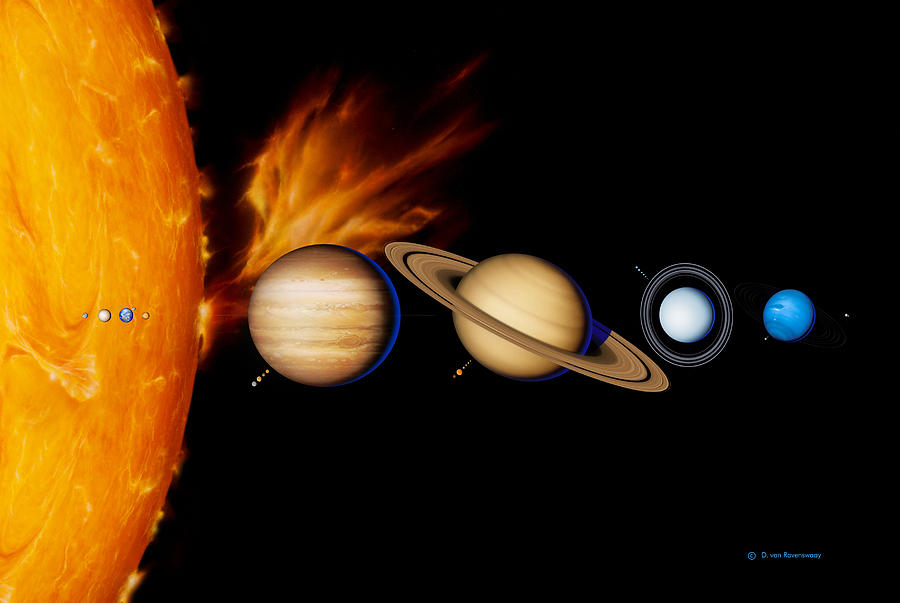 Astronomy Photograph - Sun And Its Planets by Detlev Van Ravenswaay