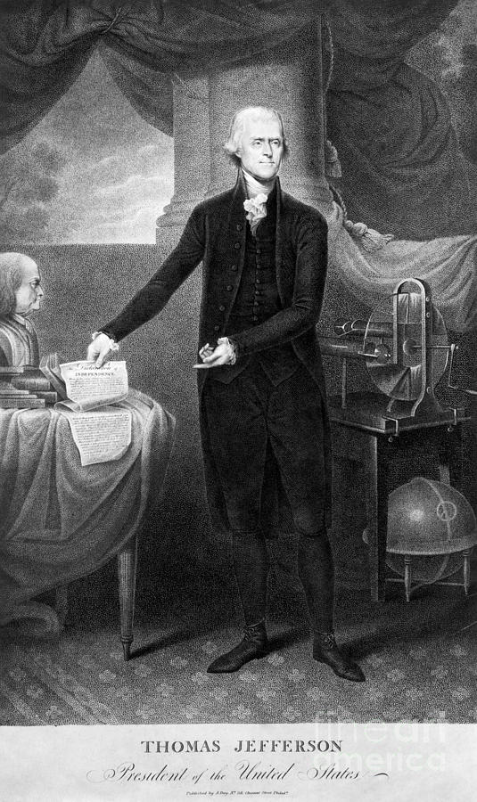 1801 Photograph - Thomas Jefferson (1743-1826) by Granger