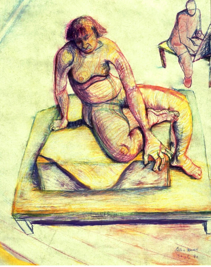 Nude Drawing - Time Passes  by John Powell