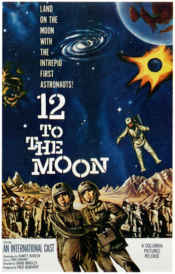 1960 Movies Photograph - 12 To The Moon, 1960 by Everett