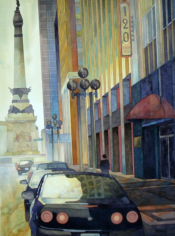 Cityscape Painting - 120 E Market by Ryan Petrow