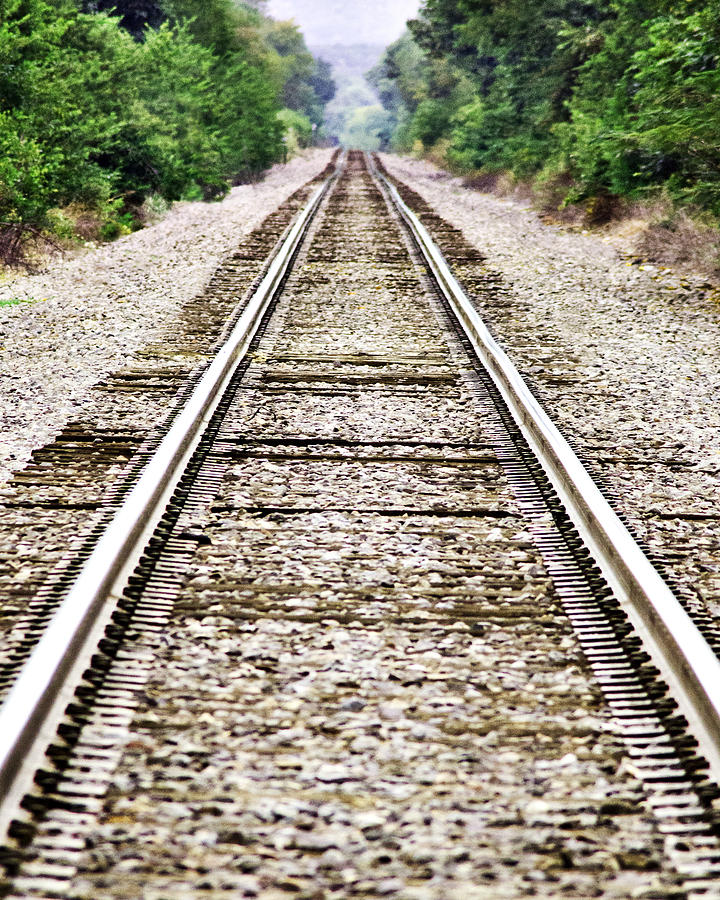 Train Photograph - 1207-9507 Train Tracks At Knoxville by Randy Forrester