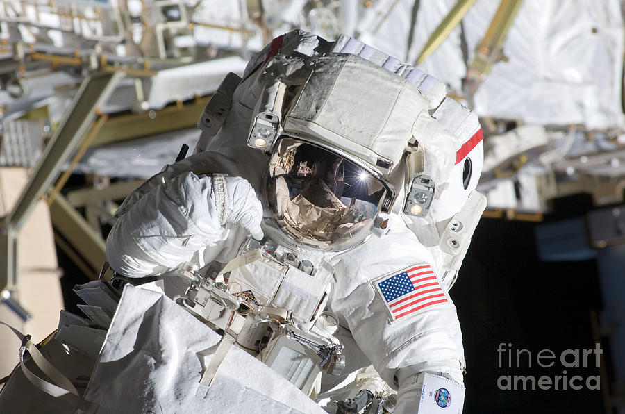 Adults Only Photograph - Astronaut Participates by Stocktrek Images