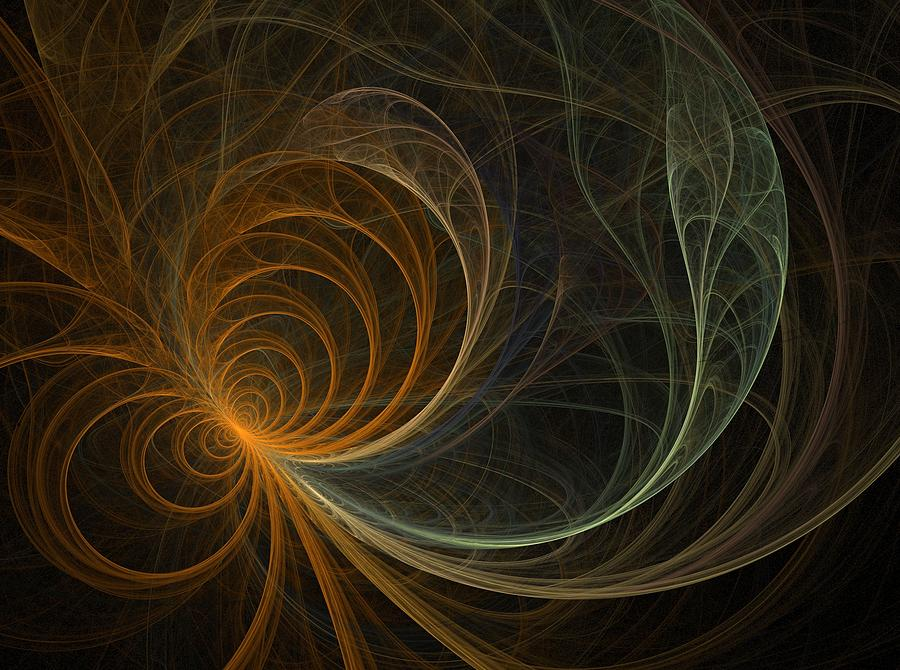 Fractal Flame Digital Art - Flower by Michele Caporaso