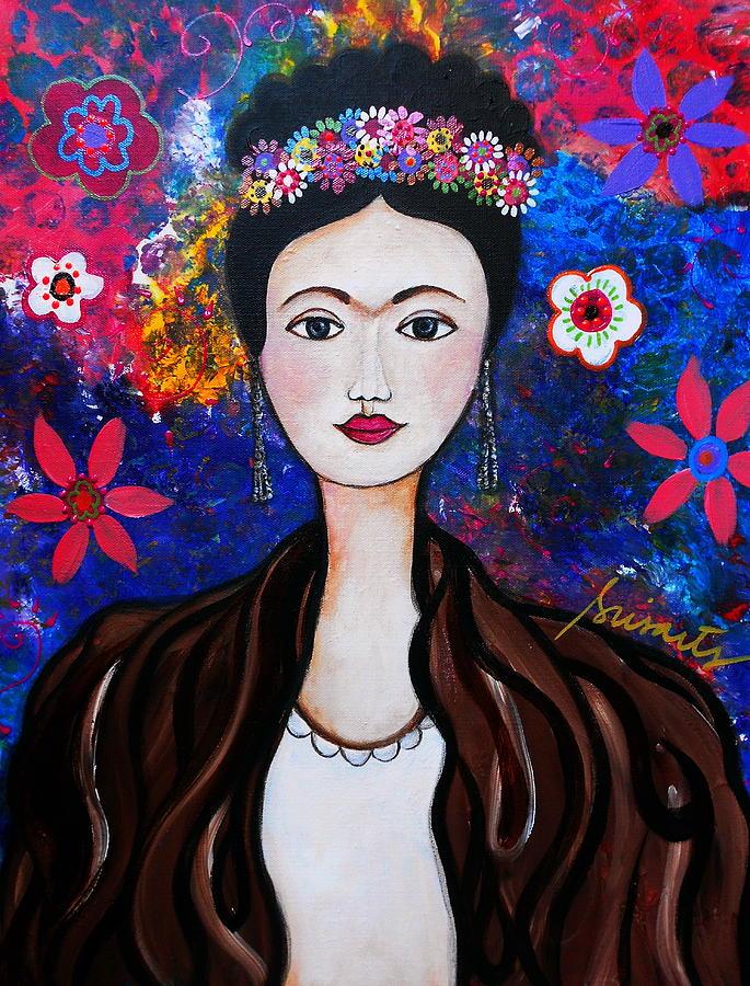 Portrait Painting - Frida Kahlo by Pristine Cartera Turkus