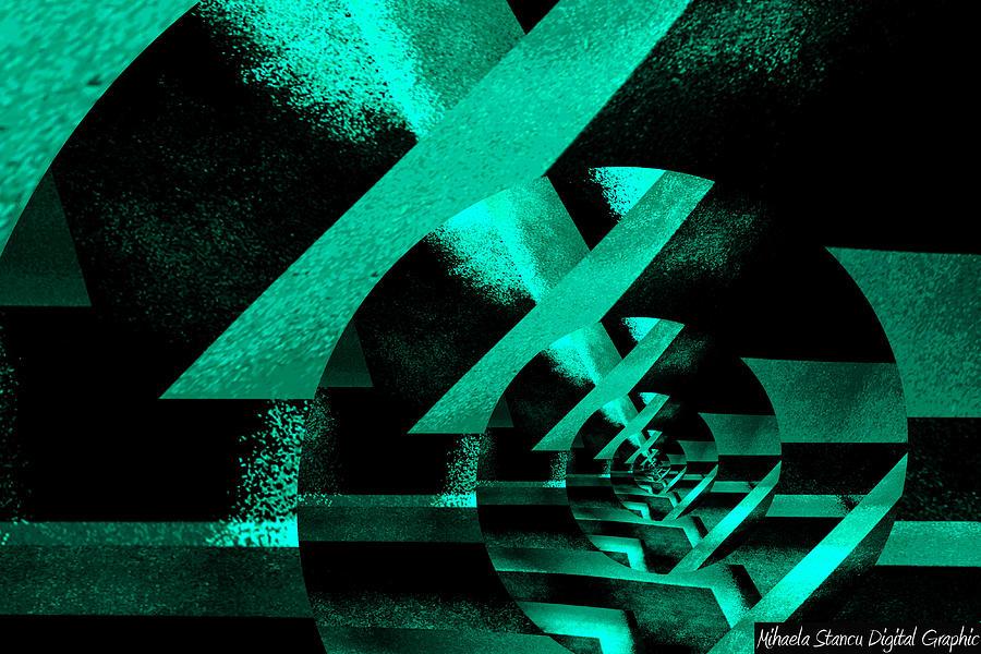 Twirling Digital Art by Mihaela Stancu