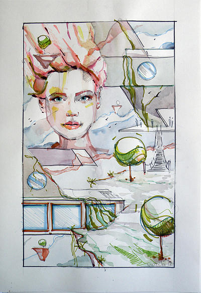 Sketch Drawing by Artamonov Ievgen