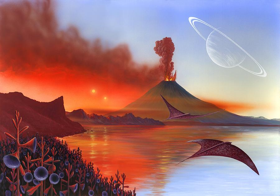 15 Alien Landscape Artwork Richard Bizley on Colorful Metal Art