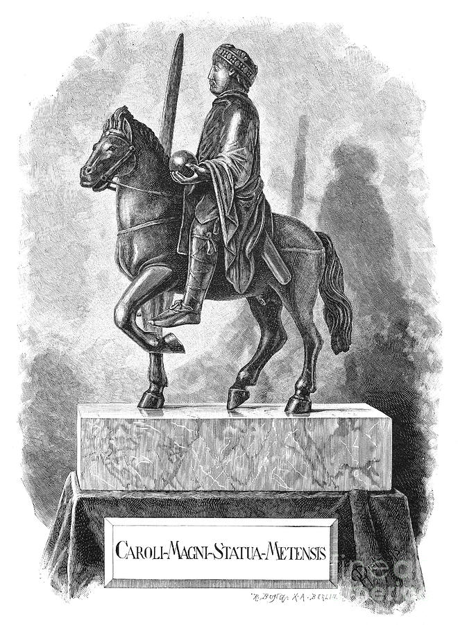 8th Century Photograph - Charlemagne (742-814) by Granger