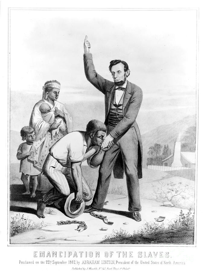 1862 Photograph - Emancipation Proclamation by Granger