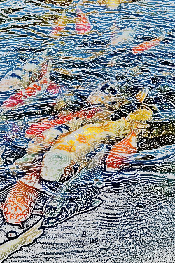 Photoshop Photograph - Koi Fish by Werner Lehmann