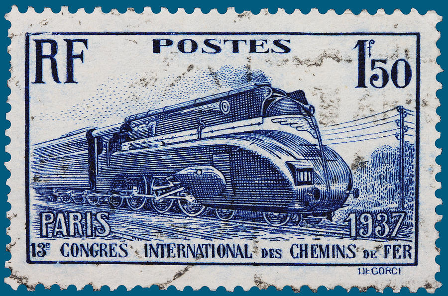 old French postage stamp Photograph by James Hill