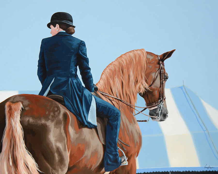 Horse Painting - Untitled  15 by Lesley Alexander
