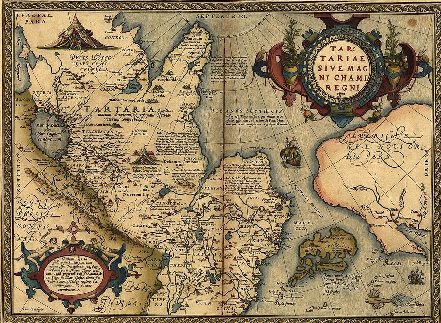 History Photograph - 1570 Map Of Tartaria Spanning All by Everett