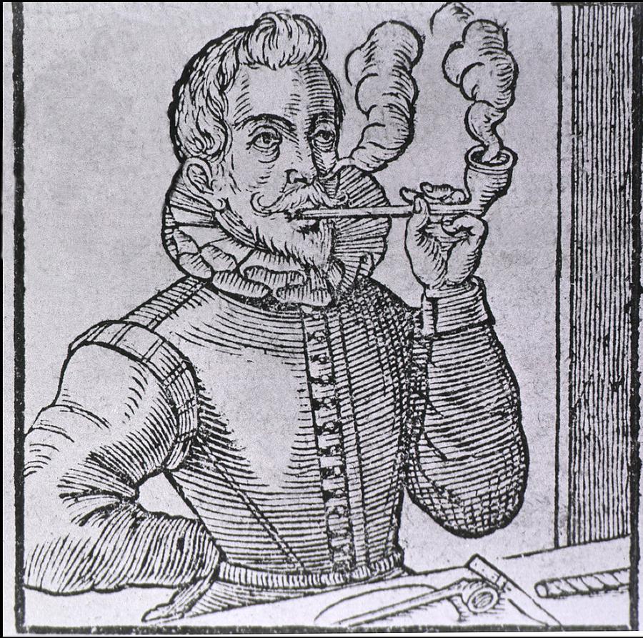 History Photograph - 16th Century Dutchman Smoking by Everett