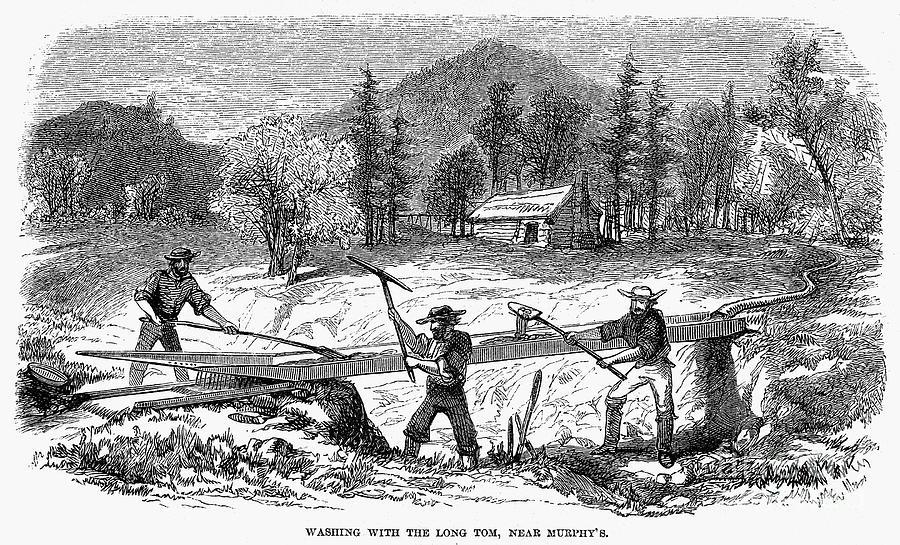 1850s Photograph - California Gold Rush by Granger