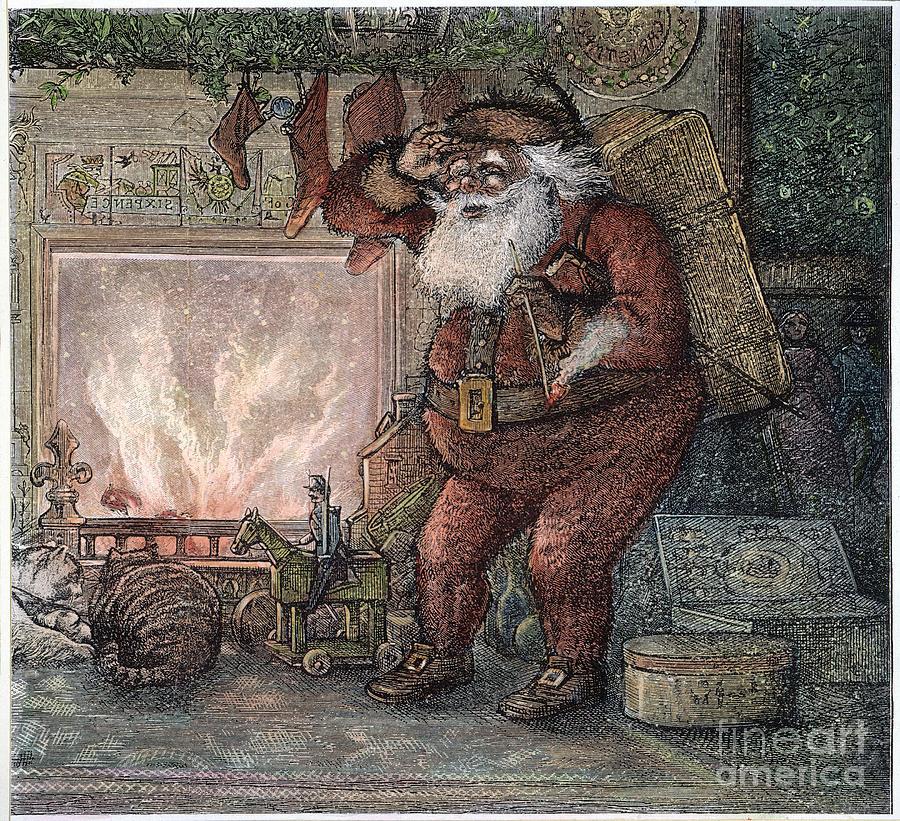 1878 Photograph - Thomas Nast: Santa Claus by Granger