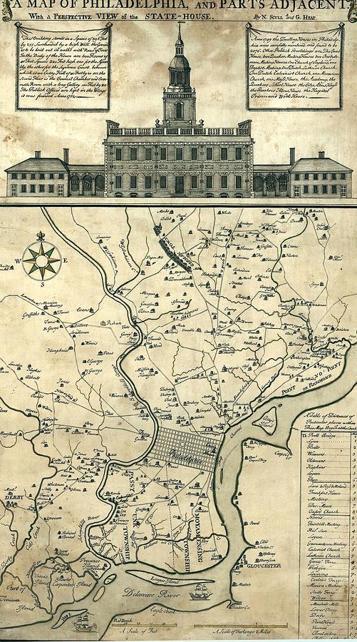 History Photograph - 1752 Map Of Philadelphia, Pennsylvania by Everett