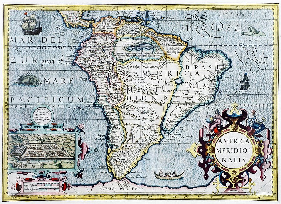 North America And Latin America Map Quiz%0A south america map quiz with rivers   th century map of south america  photograph by georgette douwma