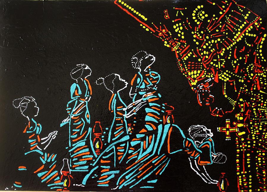 Jesus Painting - Wise Virgins by Gloria Ssali