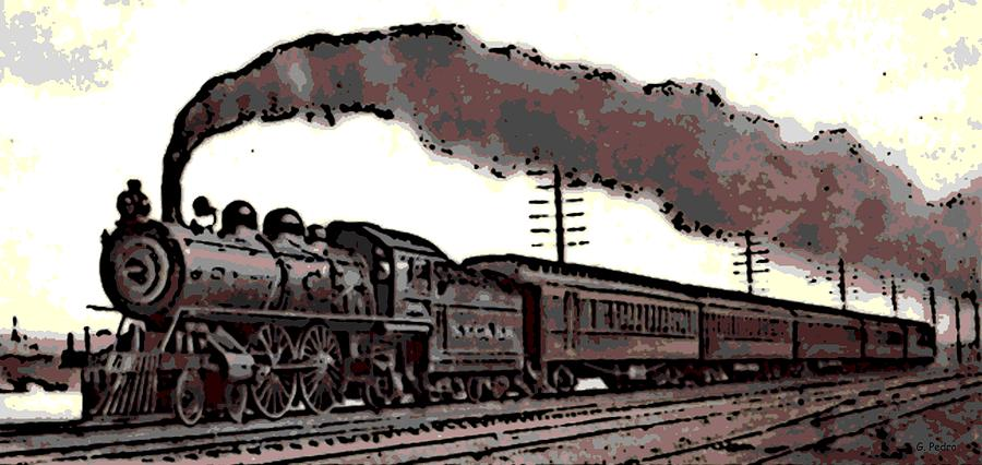 Past: The Need for Speed (mid-late 1800s) | The Evolution ... |Steam Engine Train From 1800s