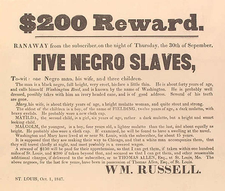 History Photograph - 1847 Advertisement For The Return by Everett