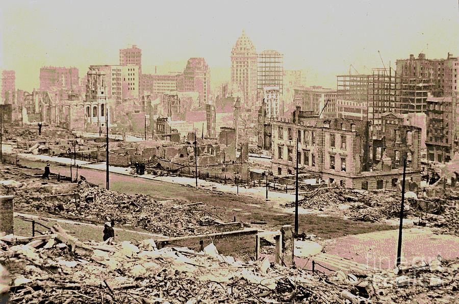 historic american buildings survey photograph 1906 san francisco earthquake damage by padre art