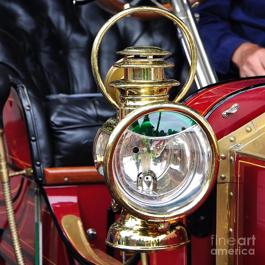Lantern Photograph - 1907 Stanley Steamer - Lantern by Kaye Menner