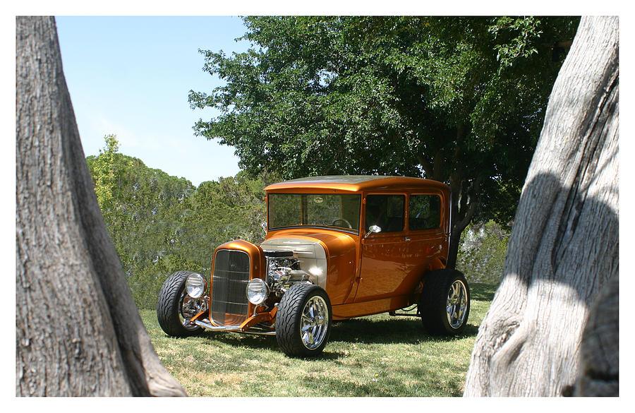 Plentiful Photograph - 1929 Ford Butter Scorch Orange by Jack Pumphrey