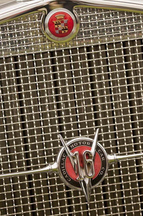 1930 Cadillac 452 Fleetwood Photograph - 1930 Cadillac 452 Fleetwood Grille Emblem by Jill Reger