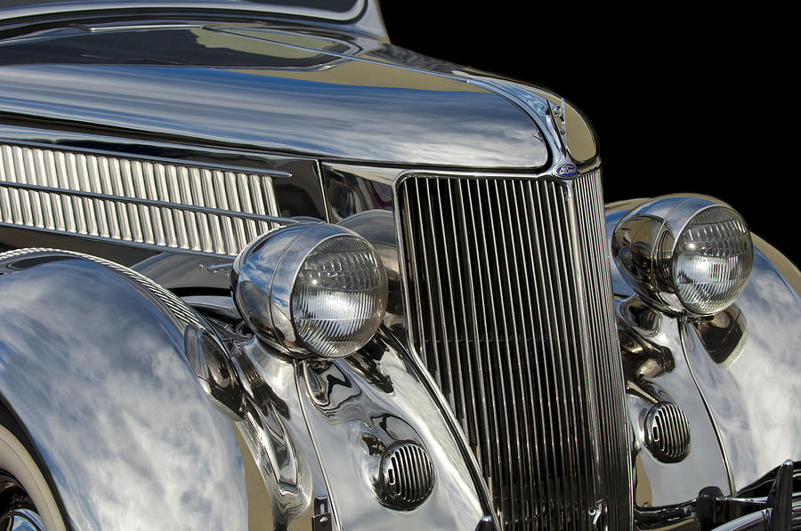 Classic Car Photograph - 1936 Ford - Stainless Steel Body by Jill Reger