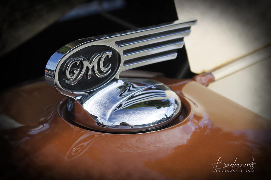 Grill Photograph - 1936 Gmc Pickup Truck Hood Ornament by Robin Lewis