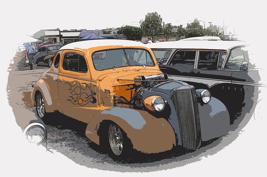 Hot Rod Photograph - 1937 Chevy Coupe by Steve McKinzie