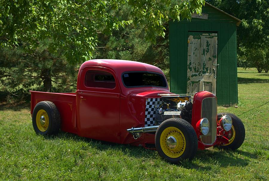 1937 Ford Hot Rod Pickup Truck Photograph by Tim McCullough