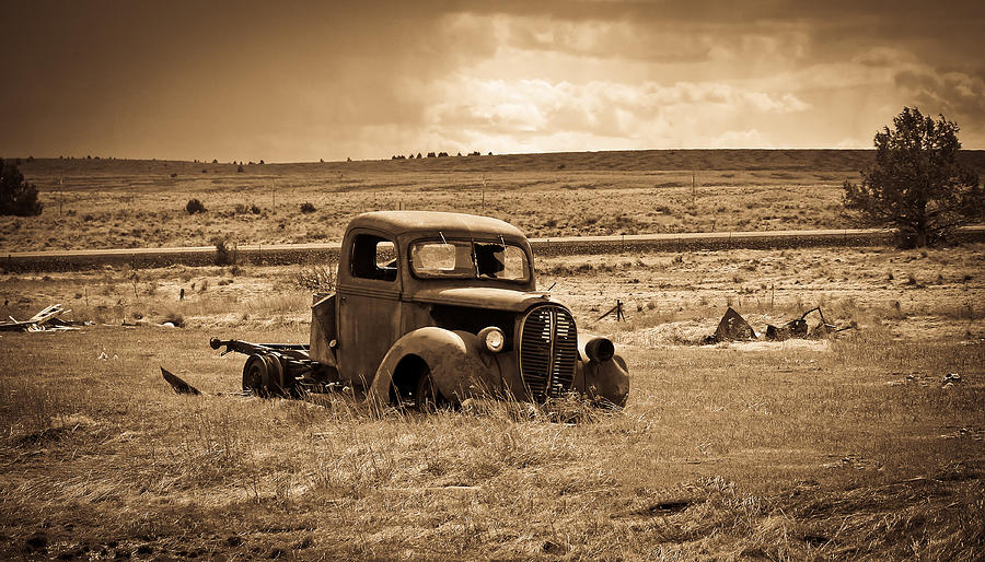 Ford Truck Photograph - 1938 Ford Pickup by Steve McKinzie