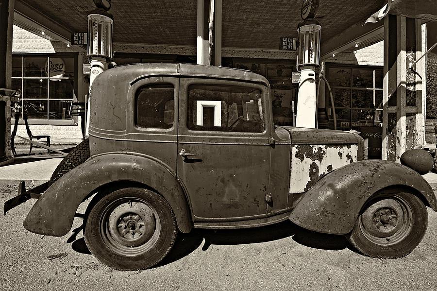 1940 Bantam Coupe Sepia Photograph