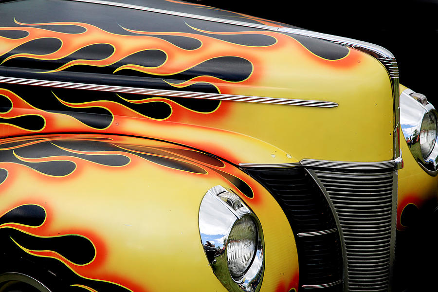 1940 Ford Photograph - 1940 Flames by Steve McKinzie