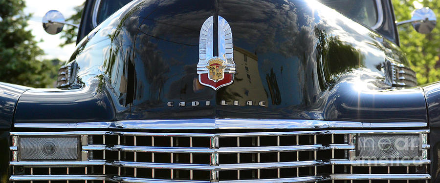 Automotive Photograph - 1941 Cadillac Grill by Paul Ward