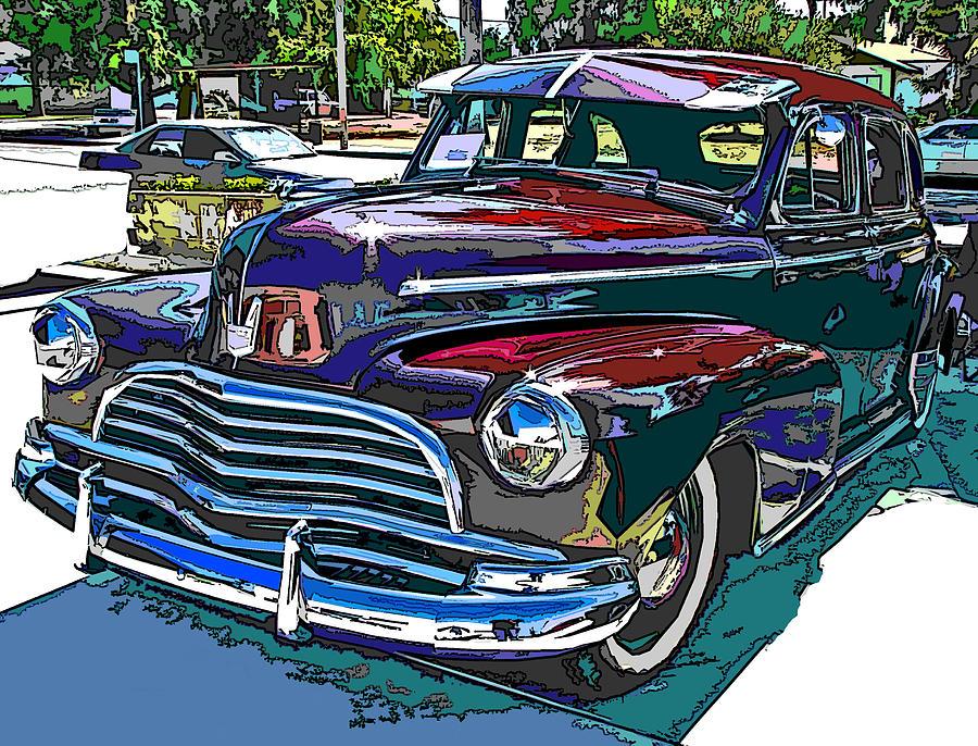 1946 Photograph - 1946 Chevrolet by Samuel Sheats